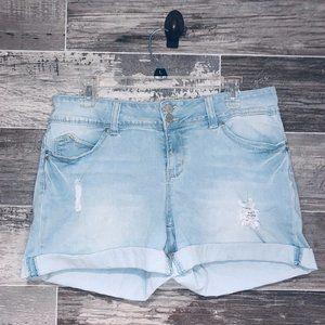 Baby Blue Jean Shorts